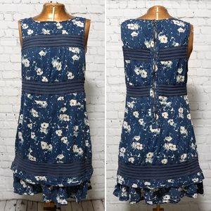 UO Kimchi Blue Floral Print Ruffled Dress EUC